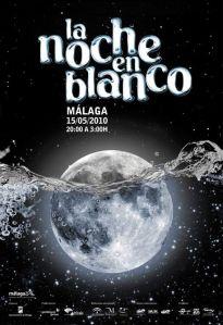 Cartel La noche en blanco Málaga 2010